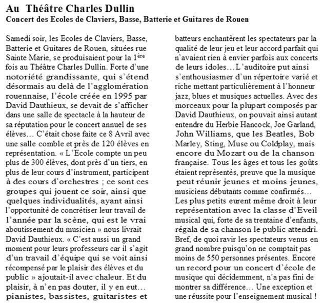 Au théatre Charles Dullin - Paris Normandie - 13 Avril 2006