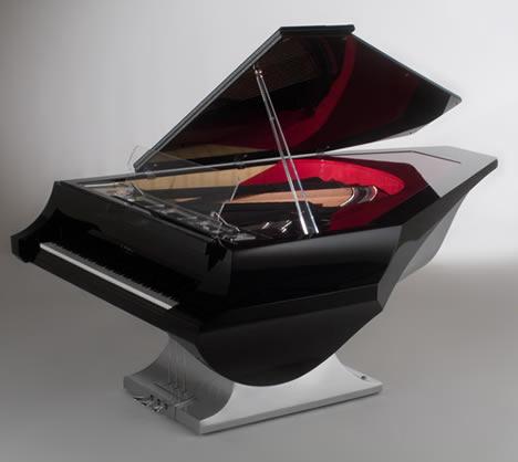 Piano M Leminal de Fazioli dessiné par NYT Line